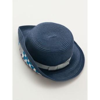 帽子全般 - チャイハネ 【カヤ】高島ちぢみ 幾何学ペーパーハット