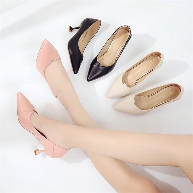 『送料無料』 12%オフクーポン使って下さい 【春の先行SALE 】韓国ファッション 走れるパンプス ポインテッドトゥパンプス 美脚脚長 パンプス レディース