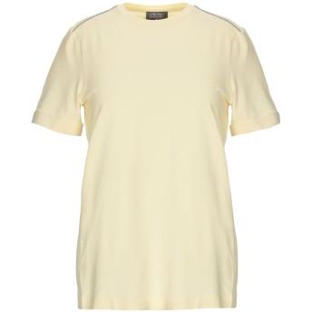 《セール開催中》LORENA ANTONIAZZI レディース T シャツ ライトイエロー 40 コットン 59% / シルク 32% / ポリウレタン 9% / バージンウール / ポリエステル