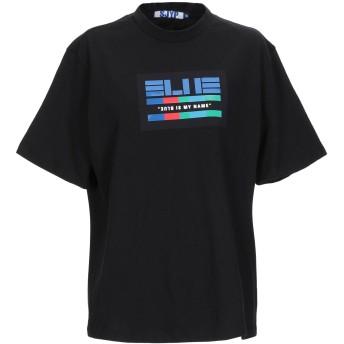 《セール開催中》SJYP レディース T シャツ ブラック S コットン 100% / ポリウレタン