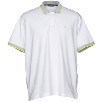 《期間限定セール開催中!》FERRANTE メンズ ポロシャツ ホワイト 46 コットン 50% / ポリエステル 45% / ポリウレタン 5%