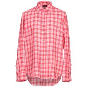 《期間限定セール開催中!》COAST メンズ シャツ レッド XL 麻 100%