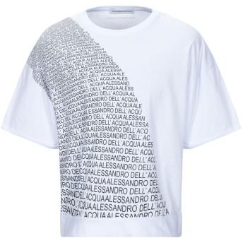 《9/20まで! 限定セール開催中》ALESSANDRO DELL'ACQUA メンズ T シャツ ホワイト S コットン 100%