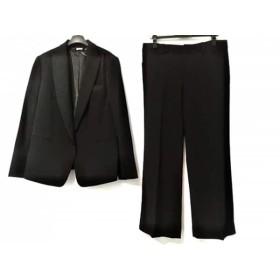 【中古】 ダナキャラン DKNY レディースパンツスーツ サイズ12 L レディース 黒 肩パッド