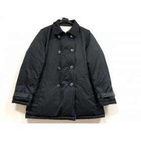 【中古】 ダーマコレクション ダウンジャケット サイズ13 L レディース 美品 黒 アイボリー