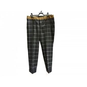 【中古】 ジユウク 自由区/jiyuku パンツ サイズ40 M レディース 白 ブラウン チェック柄