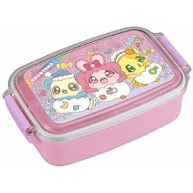 オーエスケー 弁当箱 ピンク 容量:約500ml キラキラハッピー ひらけここたま お弁当箱 (仕切付) PL-1R