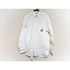 【中古】 シナコバ 長袖シャツ サイズL メンズ 美品 アイボリー レッド マルチ 刺繍/LUPO DI MARE