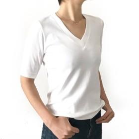 形にこだわった 大人のVネックTシャツ【サイズ・色展開有り】