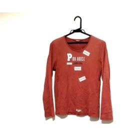 【中古】 ピンクハウス PINK HOUSE 長袖Tシャツ サイズM レディース レッド アイボリー