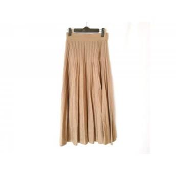 【中古】 ミラオーウェン Mila Owen ロングスカート サイズ0 XS レディース グレージュ プリーツ