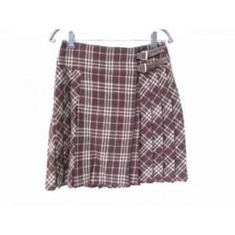 【中古】 バーバリーブルーレーベル Burberry Blue Label 巻きスカート サイズ36 S レディース チェック柄
