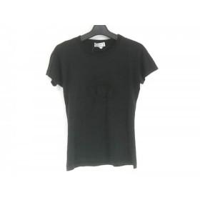 【中古】 ヴェルサーチ VERSACE 半袖Tシャツ サイズ38 M レディース 黒