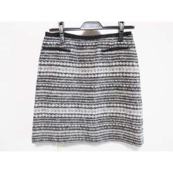 【中古】 トゥモローランド TOMORROWLAND スカート サイズ36 S レディース アイボリー 黒
