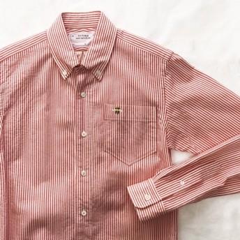 [10%OFF] コードレーン ボタンダウン シャツ / ミツバチ刺繍 【メンズ】