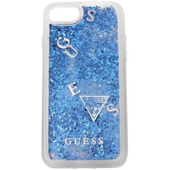 ゲス iPhoneケース GUESS GUHCI8GLUFLBL BLU LIQUID HARD CASE IPHONE 8 GLITTER PURPLE 青