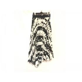 【中古】 ミラオーウェン Mila Owen ロングスカート サイズ0 XS レディース 白 黒 プリーツ