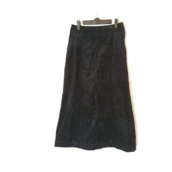 【中古】 ミラオーウェン Mila Owen ロングスカート サイズ0 XS レディース 黒 コーデュロイ