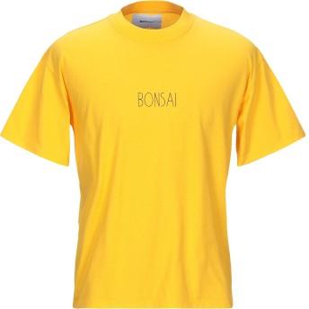 《9/20まで! 限定セール開催中》BONSAI メンズ T シャツ イエロー S コットン 100%