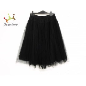ビアズリー BEARDSLEY スカート サイズF レディース 美品 黒 チュール   スペシャル特価 20190818