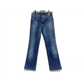 【中古】 ヴェルサーチジーンズ ジーンズ サイズ26 S レディース 美品 ネイビー ダメージ加工/刺繍