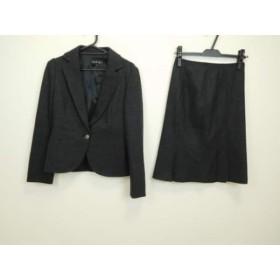 【中古】 インディビ INDIVI スカートスーツ サイズ38 M レディース 美品 ダークグレー