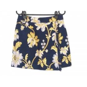 【中古】 グレースコンチネンタル GRACE CONTINENTAL ミニスカート サイズ36 S レディース 美品 花柄/刺繍