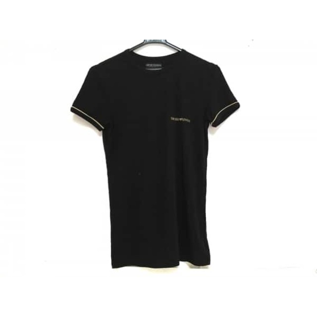 【中古】 エンポリオアルマーニ アンダーウェア 半袖Tシャツ メンズ 黒 ベージュ