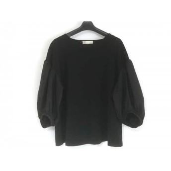 【中古】 ジユウク 自由区/jiyuku 七分袖カットソー サイズ46 XL レディース 黒