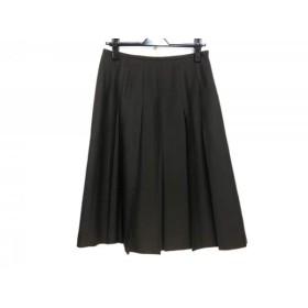 【中古】 ジユウク 自由区/jiyuku スカート サイズ40 M レディース ダークブラウン プリーツ