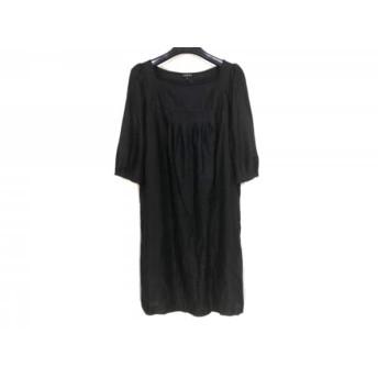 【中古】 インディビ INDIVI ワンピース サイズ38 M レディース 黒 5分袖