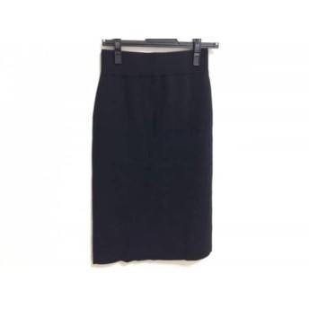 【中古】 ミラオーウェン Mila Owen スカート サイズ0 XS レディース 美品 黒 ニット