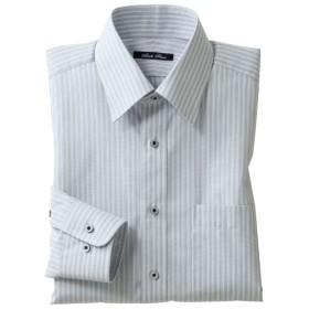 50%OFF【メンズ】 形態安定・横ストレッチYシャツ(長袖) - セシール ■カラー:グレー系 ■サイズ:50(裄丈88)