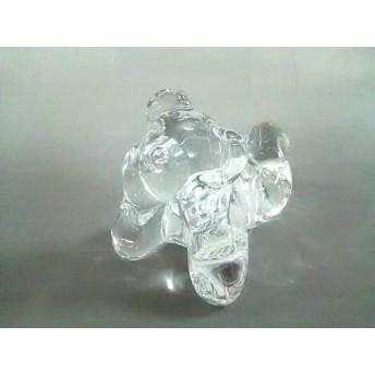 【中古】 バカラ Baccarat 小物 クリア クマ/置物 クリスタルガラス