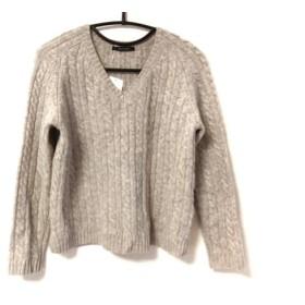 【中古】 マカフィ MACPHEE 長袖セーター サイズS レディース グレー ケーブル編み