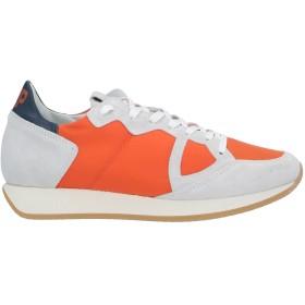 《期間限定 セール開催中》PHILIPPE MODEL メンズ スニーカー&テニスシューズ(ローカット) オレンジ 39 革 / 紡績繊維