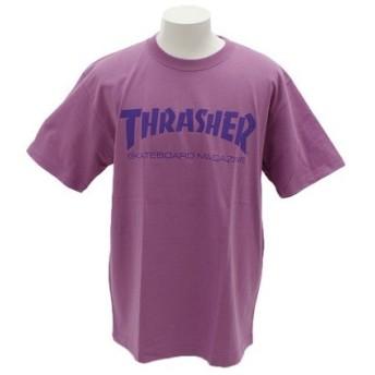 THRASHER 【オンライン特価】 ロゴ 半袖Tシャツ TH8101LV/PPL (Men's)