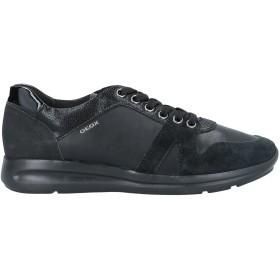 《セール開催中》GEOX レディース スニーカー&テニスシューズ(ローカット) ブラック 37 革 / 紡績繊維