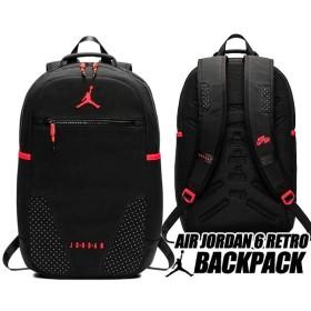 ナイキ ジョーダン 6 バックパック NIKE JORDAN RETRO 6 BACKPACK black/infrared 9a0259-kr6 リュック AJVI カバン バッグ PCスリーブ インフラレッド