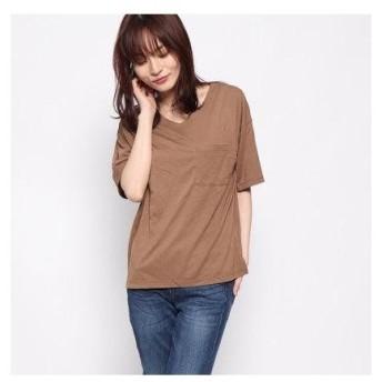 ドレスキップ DRESKIP 半袖Tシャツ (ブラウン)