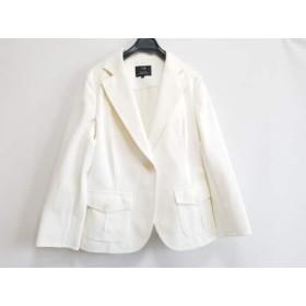 【中古】 ニジュウサンク 23区 ジャケット サイズ44 L レディース 美品 白