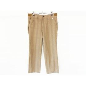 【中古】 パーリーゲイツ パンツ サイズ5 XL メンズ ブラウン ダークブラウン マルチ チェック柄