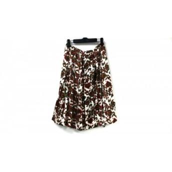 【中古】 ドレステリア DRESSTERIOR スカート サイズ38 M レディース レッド 白 マルチ ペイズリー柄