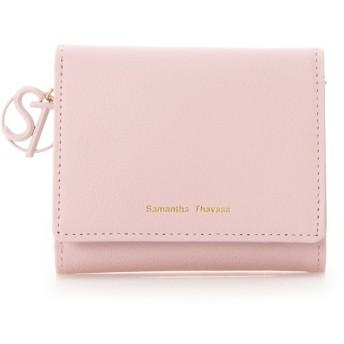 サマンサタバサ STモチーフ 折財布(パステルカラー) ベビーピンク