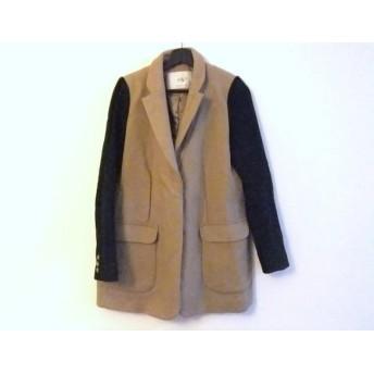 【中古】 スライ SLY コート サイズ2 M レディース ブラウン 黒 冬物