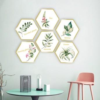 ウォールステッカー ウォールシール 壁紙ステッカー 壁紙シール 植物 草 枠 フレーム PVC 2枚 2シート おしゃれ インテリア 模様替え 雰囲気