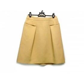 【中古】 ランバンオンブルー LANVIN en Bleu スカート サイズ38 M レディース ライトブラウン