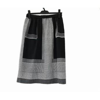 【中古】 ダブリュービー wb スカート サイズ40 M レディース 黒 白