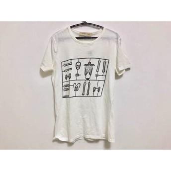 【中古】 シーバイクロエ SEE BY CHLOE 半袖Tシャツ レディース 白 黒