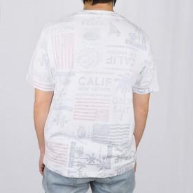 Tシャツ - NEVEREND スラブ天竺 裏面プリント Tシャツ 9703-703